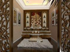 36 Ideas For Pooja Room Door Design Small Meditation Raumdekor, Meditation Room Decor, Temple Room, Home Temple, Pooja Room Door Design, Main Door Design, Mandir Design, Puja Room, Prayer Room