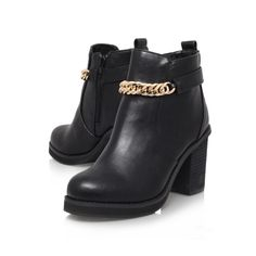 shelly black high heel ankle boots from Miss KG £99