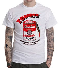 The CANNIBALS BRAINS SOUP T-shirt - by Zombie Food Inc.   Price: €14