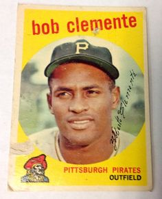 1959 Topps Roberto Clemente #478 baseball card Pittsburg Pirates HOF BV175 #PittsburgPirates