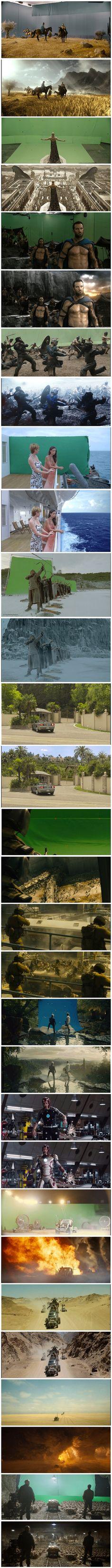Escenas de pelis antes y después de los efectos especiales. - www.CABRONAZI.com