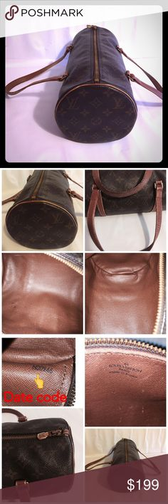 """Louis Vuitton papillon 30 LV hand bag This is an authentic louis vuitton bag.                        Color: Brown Material: Leather monogram Made in: France Measurement approx: L: 11.8"""" x H: 5.7"""" W: 5.7"""" Handle: 17.3"""" Date code reads: N00946                                        Condition: preloved and in good condition, no rips, tears, or major damage. Some rabbing on the edges and pen marks inside the bag. Please see pictures for condition and more detial…"""