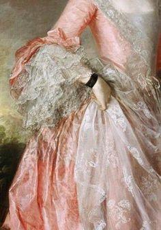 Mary, Countess Howe by Thomas Gainsborough, ca. 1764 (detail) Mary, Countess Howe by Thomas Gainsborough, ca. Thomas Gainsborough, Princess Aesthetic, Pink Aesthetic, Beauty Standards, Rococo Fashion, Dark Fashion, Lolita Fashion, Fashion Art, Lace Painting