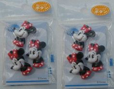 2 Pack Disney Sew-On Buttons / Sewing Notions /Charms Mickey Mouse, Pooh, DD | eBay