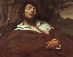 Wounded Man, by artist Gustave Courbet. hand-painted museum quality oil painting reproduction on canvas. Collage Drawing, Sketch Painting, Drawing Sketches, Sleeping Man, Street Art, Gustave Courbet, French Paintings, Oil Painting Reproductions, Impressionist