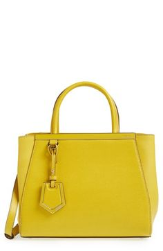 Fendi 'Petit 2Jours Elite' Leather Shopper Cedro by: Fendi