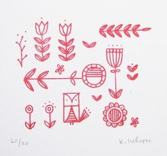 I would like to use these as embroidery patterns.-CH | Scandanavian Folk Print - June Craft