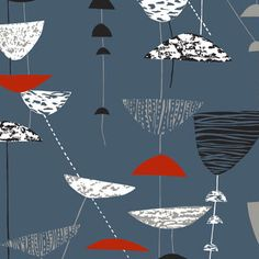 Lucienne Day  Calyx, 1951  Lucienne Day's career in design spans 60 years and the freshness and originality of her work ensures that it is still relevant to contemporary interiors.