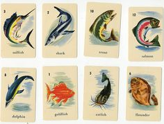 vintage fish cards