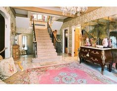 #Luxury #Foyer #Staircase 6 Woodchester Dr, #Newton, MA 02467 - MLS® #71785695 - Located in prestigious Chestnut Hill on 38,000' of land. Grand 1929 Tudor-style residence with LaVedici slate roof exhibiting extraor
