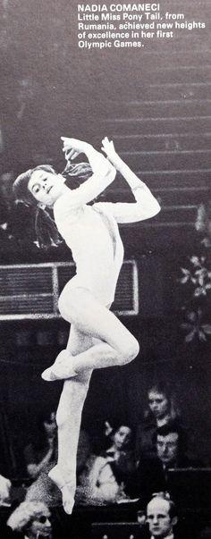 """Nadia Comaneci Romania Gymnastics """"Little miss pony tail"""" Acrobatic Gymnastics, Sport Gymnastics, Artistic Gymnastics, Olympic Gymnastics, Gymnastics History, Gymnastics Problems, Nadia Comaneci, Olympic Games Sports, Jordyn Wieber"""