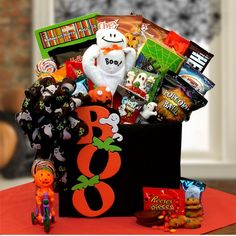 Leave them spellbound with this hauntingly original Boo! To you Gift Box! A lively gathering of delicious treats are set in a playful Boo gift box From the spooky grin on Boo's face right down to Bike