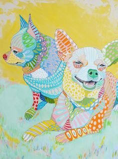 Custom Pet Portrait Painting by mateasinkovec on Etsy Chihuahua Art, Dachshund, Dog Artwork, Mundo Animal, Dog Portraits, Animal Paintings, Oeuvre D'art, Art Lessons, Pop Art