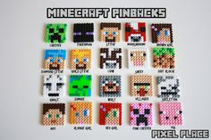 Minecraft pin hama mini beads by PixelPlace2014
