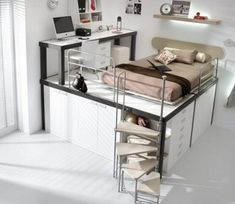 loft beds for teens with desk and shelves   Creative Toddler Beds   bedsetsforkids.net