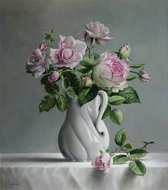 Roses Print By Pieter Wagemans