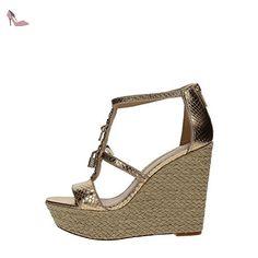 Michael Kors 40R7SKHA1M Chaussures Compensées Femme PALE GOLD 35 - Chaussures michael kors (*Partner-Link)