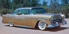 Jerry Feigner's '55 Chevy Bel Air 2 door hardtop sport coupe, 'Lil Honey Bee'