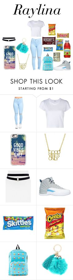 """""""Untitled #51"""" by brejae ❤ liked on Polyvore featuring RE/DONE, Casetify, Aqua, NIKE, Hard Candy and Hershey's"""