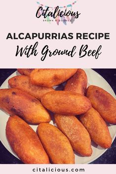 Puerto Rican Alcapurrias Recipe A latin finger food filled with gound beef The outside is a folding dough commonly known as Masa made of Yautia aka Taro Root This delicac. Puerto Rican Dishes, Puerto Rican Cuisine, Puerto Rican Recipes, Mexican Food Recipes, Boricua Recipes, Comida Boricua, Masa Recipes, Cooking Recipes, Steak Recipes