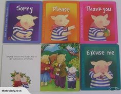 Don't forget your manners - Glossy  wipe clean Board books  A collection of 4 board books to compliment children's early learning.