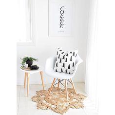 Simply cute corner | Rug love | Fine Little Day cushion covers @immyandindi |