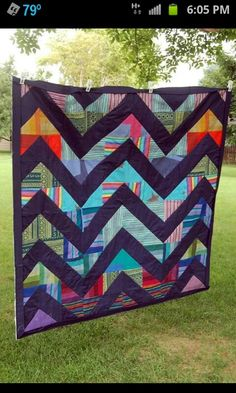 Made by Starbright Legacy Quilts from woven wrap scrap.