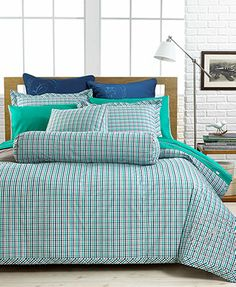 closeout! tommy hilfiger bedding, hadley plaid twin/twin xl