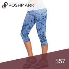 Bia Brazil blue jean print leggings Blue jean print capris. Made of Brazilian supplex to wick away sweat, maintain their shape, and really hold you in. One size fits most from 0-10. Pants Leggings
