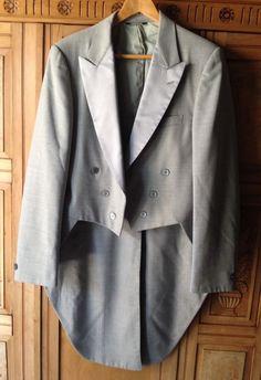 Mens Gray Bill Blass Tuxedo Tailcoat Halloween Steampunk Theatrical Dickens 42R #TuxedoTailcoat