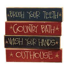 The Country House Online Store;Bath Blocks Set/4 Asst. $19.99