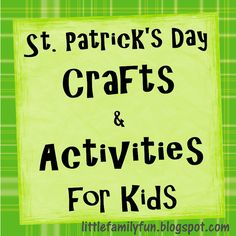 Little Family Fun: St. Patrick's Day