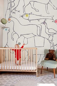 Awesome 'Animals' wallpaper from French company Minikani Lab.