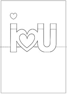 Printable Pop-Up Cards | ... pop up i love you card photo martha stewart click and print the guide