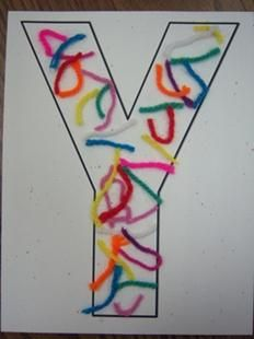Letter Y yarn craft