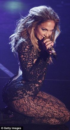 Jennifer Lopez in lace suit - she's still got it - in fact, she's got it more than ever before!.