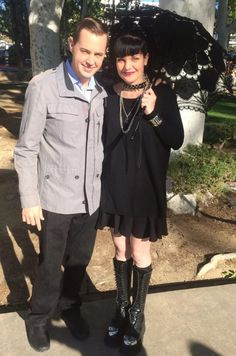 """Filming with Pauley Perrette today in the park :)"" ~Twitter / SeanHMurray"