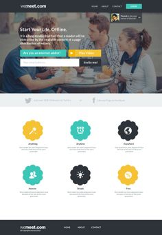 Landing Page for Wemeet by Farouk Hosni, via Behance