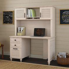 Kathy Ireland Office by Bush Volcano Dusk 4 Piece Desk Office Suite Finish: Driftwood Dreams
