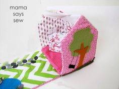 Fabric Doll House - mama says sew