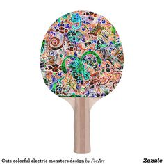 Shop Cute colorful electric monsters design ping pong paddle created by ForArt. Ping Pong Table Tennis, Ping Pong Paddles, Monster Design, Monsters, Electric, Colorful, Cute, Kawaii, The Beast