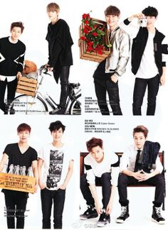 EXO for Harpers' Bazaar China Magazine, February 2014 Issue