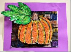 Crayon Batik pumpkins