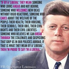 """I don't label myself as liberal, """"left"""" or Democratic, but I agree with this quote."""