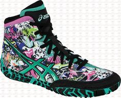 Asics Aggressor 2 LE Graffiti Wrestling Shoes