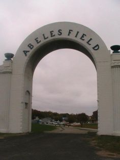 Abeles Field entrance - site of all school football games through fall 2009, Leavenworth, Kansas