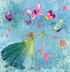 Fairy and Butterflies by Mila Marquis. PDF cross stitch Fairy and Butterflies by Mila Marquis – Counted cross stitch pattern in PDF format Art And Illustration, Lulu Shop, Art Fantaisiste, Photo Deco, Art Carte, Cross Stitch Supplies, Square Card, Counted Cross Stitch Patterns, Whimsical Art