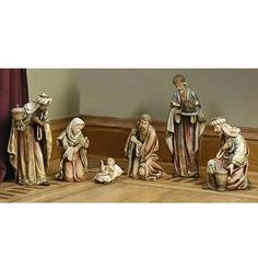 Christmas Nativity Scene, Christmas Trends, What Is Christmas, Holding Baby, Christmas Central, Collectible Figurines, Ivory White, Decorative Boxes