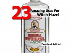 23 Amazing Uses For Witch Hazel - Home Tips World Witch Hazel Uses, Witch Hazel For Skin, Natural Health Remedies, Home Remedies, Baking Soda Uses, Natural Healing, Natural Life, Natural Living