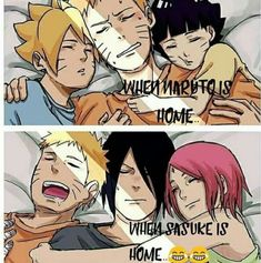 THE FACT THAT NARUTO SLEEPS BETTER WITH SASUKE THAT WITH HIS OWN CHILDS LMAO